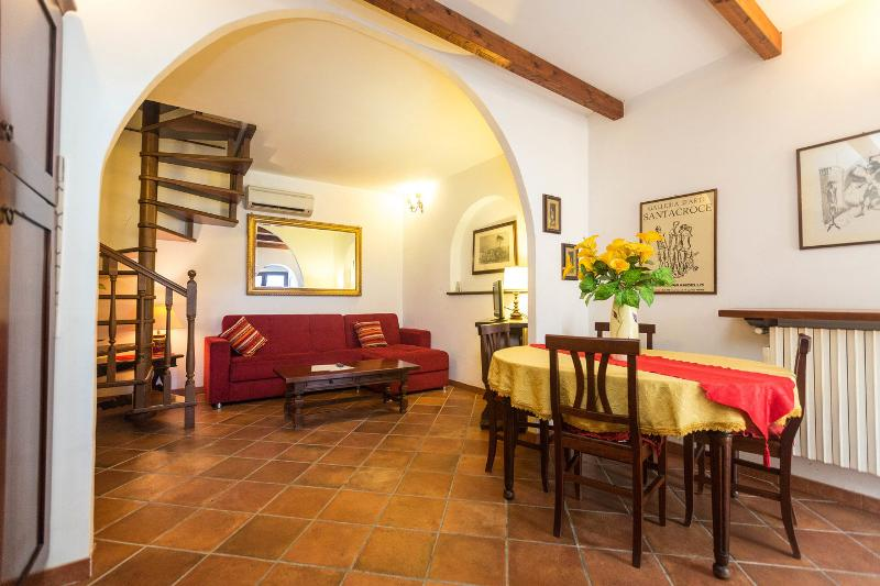 Salon Kitchen - apartment for 4/5 persons  GINESTRA - Rome - rentals