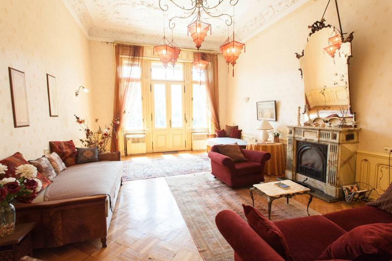Living Room - Stylish historic flat with fire-place and balcony! - Budapest - rentals