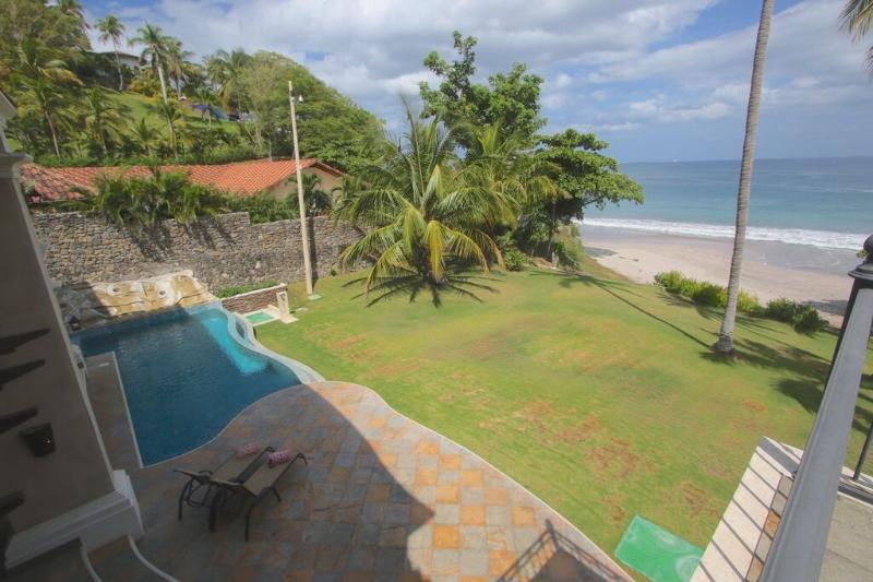 View from Master Bedroom - Luxury Beachfront Villa on White Sand Beach - Slp8 - Playa Flamingo - rentals