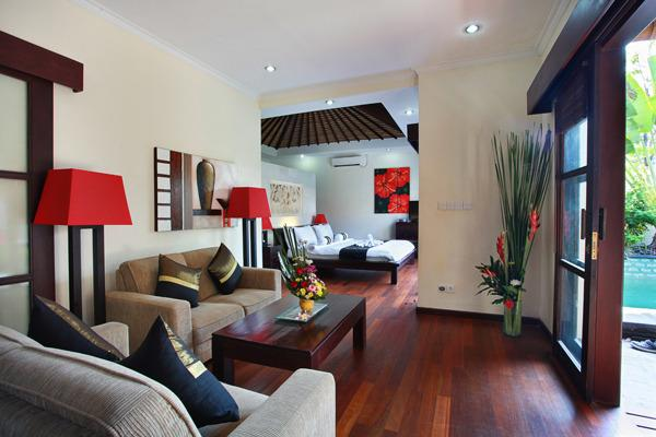 Lounge/Bedroom Area - Aleesha Villas - 1 BR Superior Private Pool Villa - 2 - Sanur - rentals