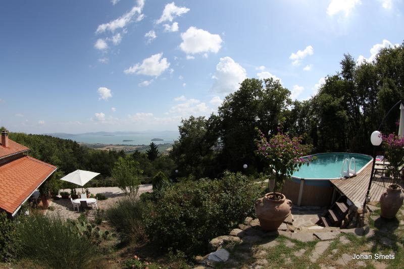 House with private swimming pool and panoramic lake view - Image 1 - Tuoro sul Trasimeno - rentals