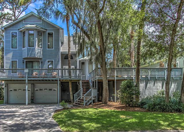 Exterior - 27 Mallard- RENOVATED! 4th Row Ocean with Pool AND Hot Tub - Hilton Head - rentals
