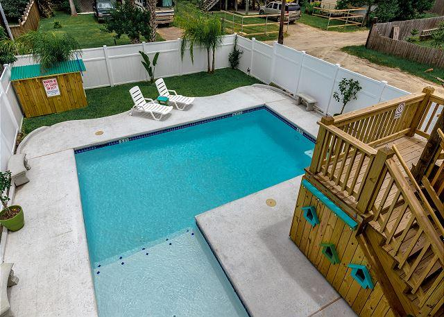 Private Pool - Blue Lagoon: PRIVATE POOL,* 6 Seat Golf Cart, Walking Distance to Everything - Port Aransas - rentals
