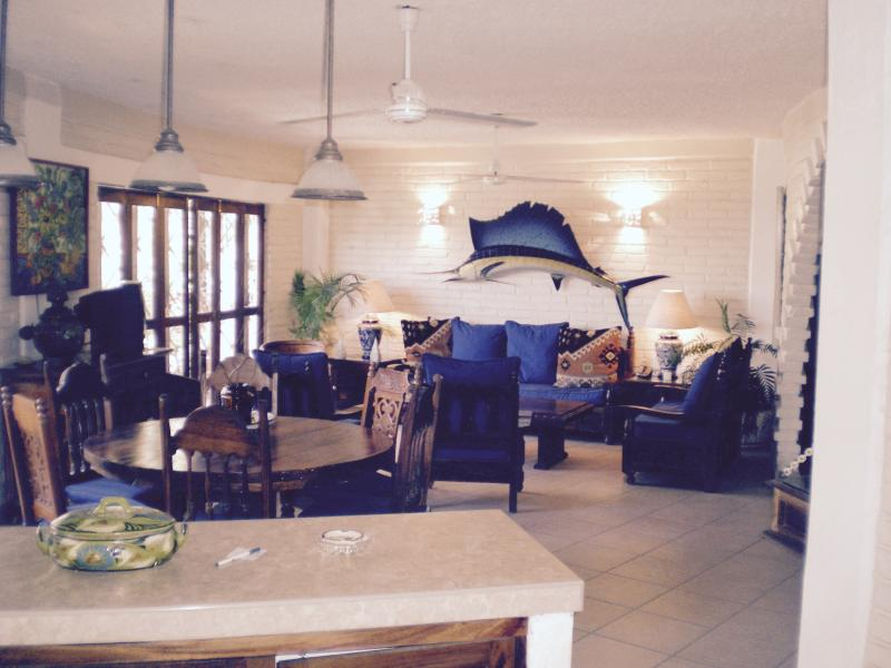 Living/Dining Area - BLUE CHAIRS-LOS MUERTOS BEACH--2 bedrm./3 bath - Puerto Vallarta - rentals