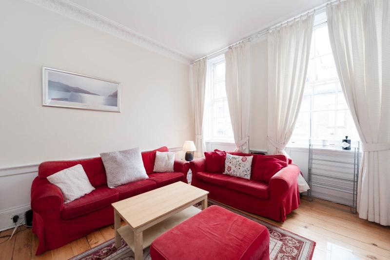 Living Room - Lovely 3 double bedroom 2nd floor city centre apt - Edinburgh - rentals