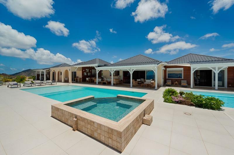 Dreamin Blue at Happy Bay, Saint Maarten - Ocean View, Pool, Walk to the Beach - Image 1 - Sint Maarten - rentals