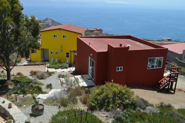 View of New Ocean View Clubhouse and guest rooms(Yellow house) - Bed and Breakfast Inn near La Bufadora Waterspout - Ensenada - rentals