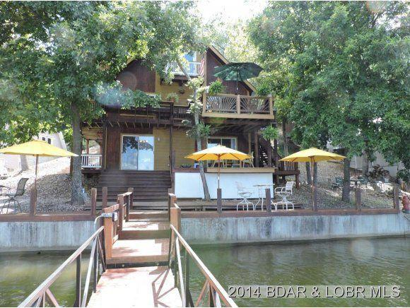 View from Lake 2300 sf. vacation home 55 mm - Barrel of Family Fun 55 mm 8 steps to the  Lake - Stover - rentals