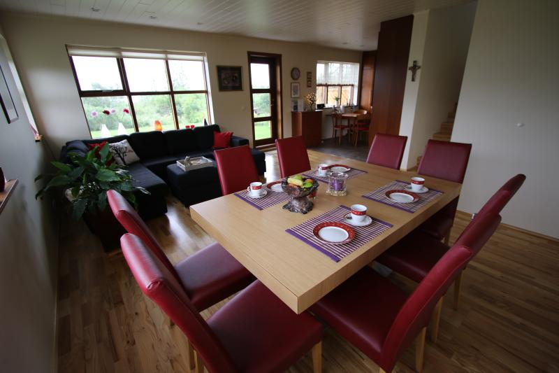 Dining and living room - Háholt Cosy House in Laugarvatn - Laugarvatn - rentals