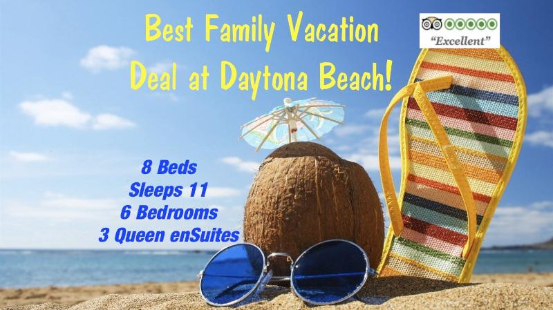 VRBO 6BR FAMILY BEACH VACATION DEAL at Daytona! - Image 1 - Daytona Beach - rentals