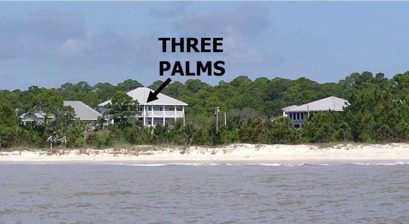 Three Palms Compound from Gulf of Mexico - BEST BEACHFRONT  INDIAN PASS-Pool-SLEEPS 14- PETS - Port Saint Joe - rentals