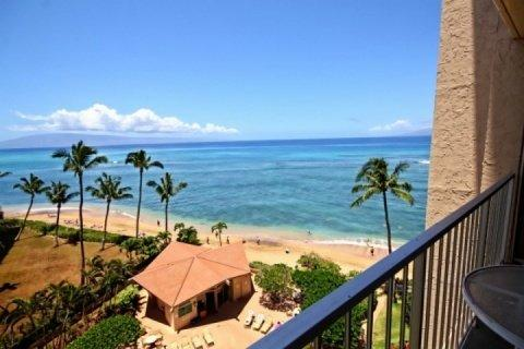 Views of the Pacific from your seventh floor lanai. - Great Views - Royal Kahana 7th Floor Ocean View 1 bedroom / 1 bath - Lahaina - rentals