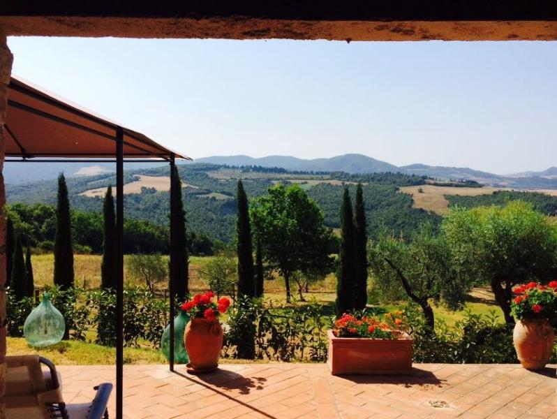 View from the patio - Authentic Rustic Tuscany: San Gimignano / Volterra - Volterra - rentals