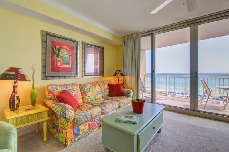 Beautiful oceanfront condo w/gulf views, shared pool, hot tub, easy beach access - Image 1 - Panama City Beach - rentals