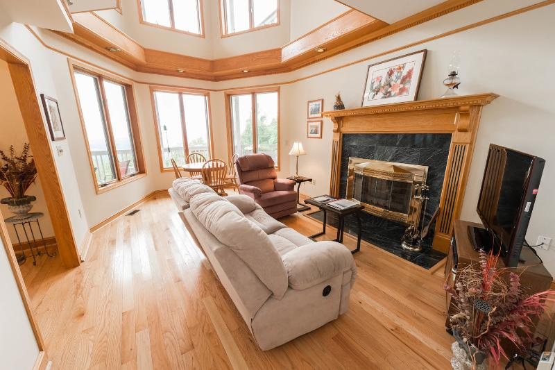 Living Room - Stunning Mountain Views, 3 Decks, TV, Free Wi-fi - Asheville - rentals