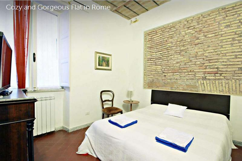 First bedroom. Quite and sunny room overlooks a beautiful inner garden. - Wide 3 Bedrooms Apartment in the center of Rome - Rome - rentals