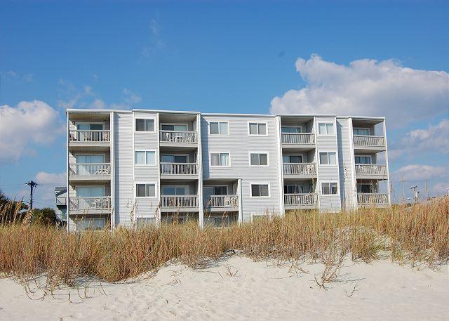 Xanadu I Building (from beach) - Spacious 2 bedroom, 2 bath direct oceanfront condo. - North Myrtle Beach - rentals