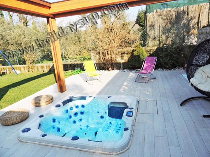 Outside patio garden and jacuzzi hot tub apartment close to sorrento and amalfi coast booking rental - Pretty apartment with jacuzzi/garden sorrentocoast - Sant'Agata sui Due Golfi - rentals
