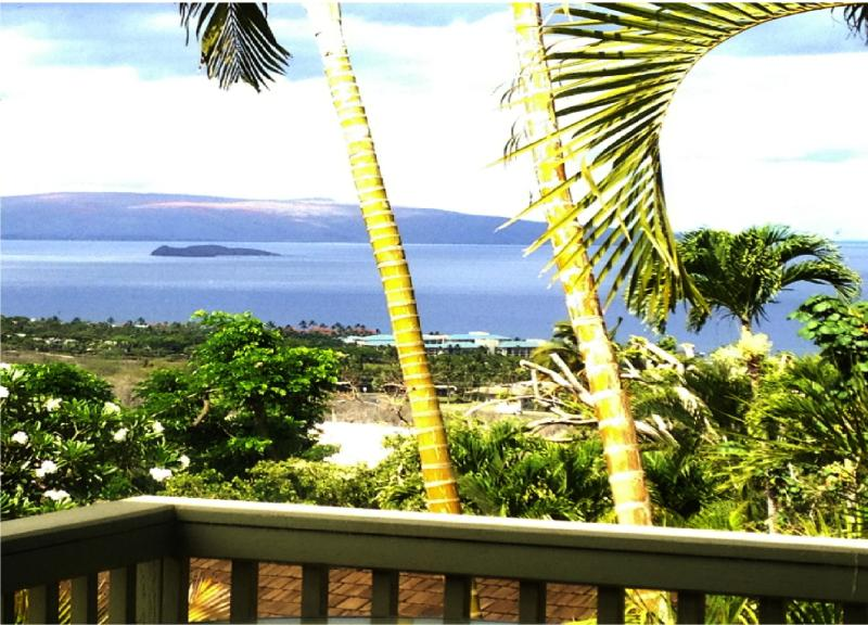 VIEW FROM LIVING ROOM AND LANAI - OCEAN VIEW PRIVATE ROMANTIC COTTAGE ABOVE WAILEA - Wailea - rentals