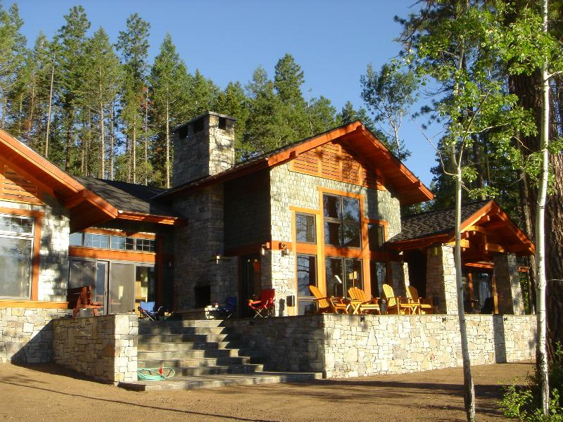 Lake side of house, 50' from Flathead Lake waters - The Most Beautiful House on Flathead Lake, Montana - Polson - rentals
