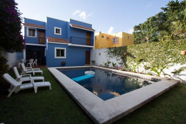 Hacienda Azul - Giant Pool&Garden, Quiet Street, Rustic Mexican - Image 1 - Cozumel - rentals