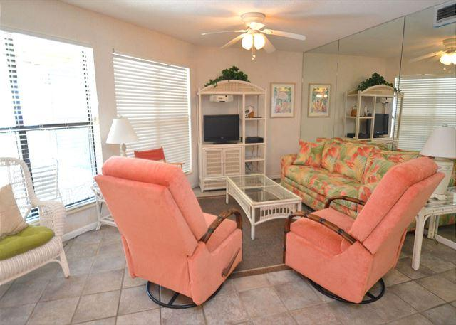 Additional View of Living Room Area - Sandpiper 14A ~ Quaint and Cozy Beachview Condo ~ Bender Vacation Rentals - Gulf Shores - rentals