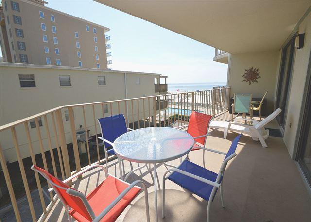 Balcony - Gulf Village 213 ~Nice Relaxing Vacation Condo ~ Bender Vacation Rentals - Gulf Shores - rentals