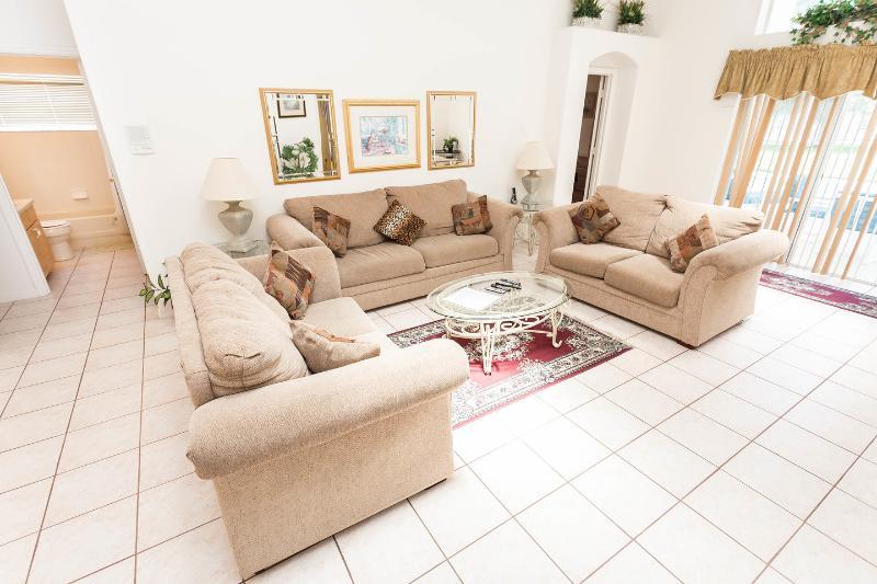 Living Room - One Of Two 5 Bed 4 Bath Villas Near Disney Florida - Kissimmee - rentals