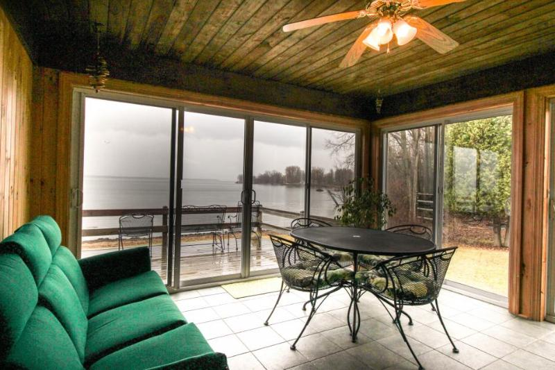 Lakefront home w/amazing water views, private dock, sauna, & 17 acres - Image 1 - North Hero - rentals