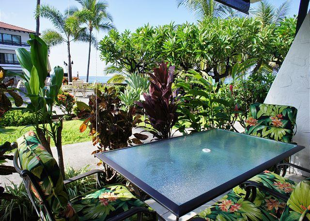 Lanai with Tropical Ocean Views - Casa de Emdeko 136 AC Included! - Kailua-Kona - rentals