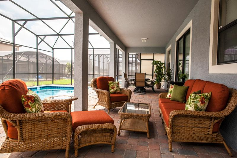 Private pool with screened lanai - 7BR, 5BA Disney Area, Luxury Rental Home - Davenport - rentals