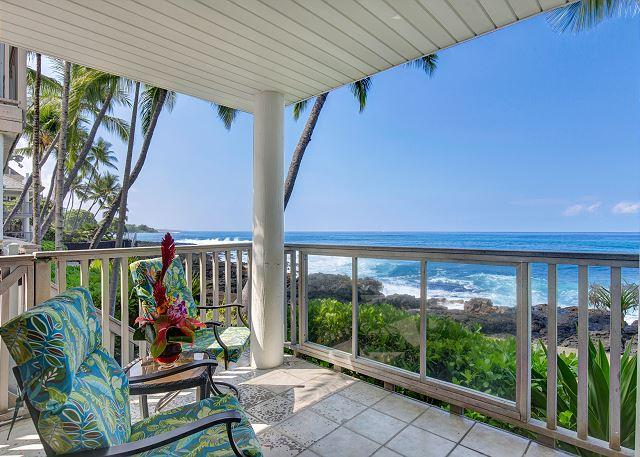 Ocean Front - Hale  Kai O Kona #7 Ocean Front, Sandy Beach only a Few Yards Away! - Kailua-Kona - rentals