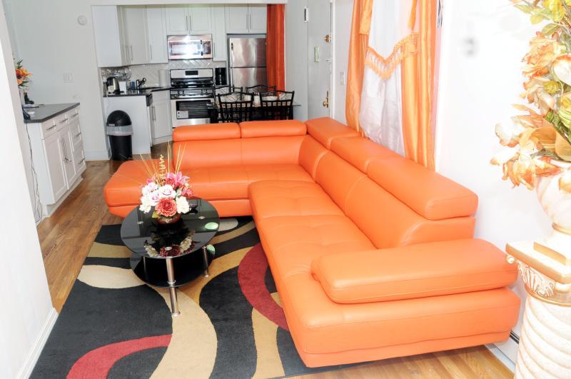 livingroom1 - Gorgeous 4bedroom Duplex With All Amenities - New York City - rentals
