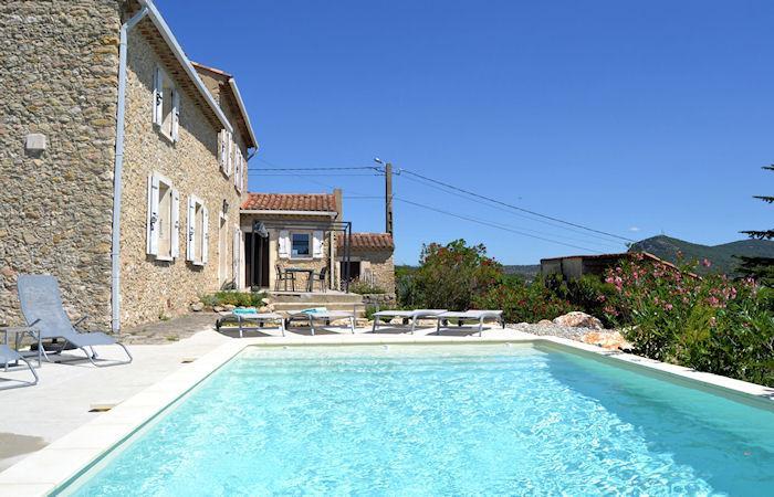 Saint-Ambroix Gard, Charming stone house 8p. private pool - Image 1 - Saint-Ambroix - rentals
