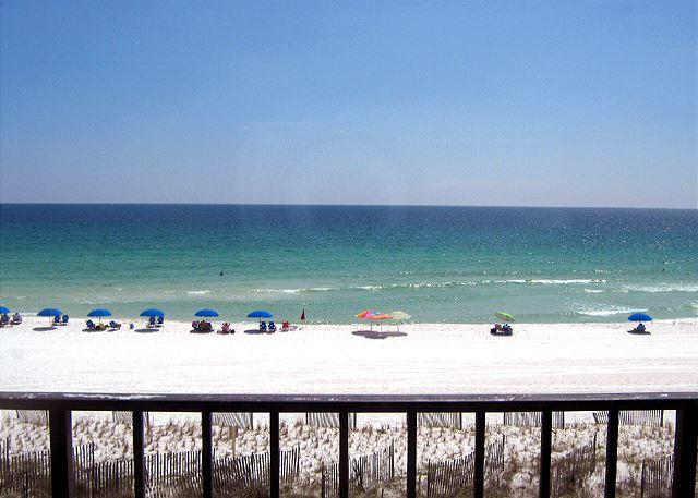 Actual balcony View - 2bed/2 bth Gulf Front Condo. 4th Floor FREE BEACH SERVICE!!!! - Fort Walton Beach - rentals