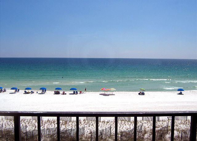 Actual balcony View - 2bed/2 bth Gulf Front Condo. NO Smoking, NO Pets - Fort Walton Beach - rentals