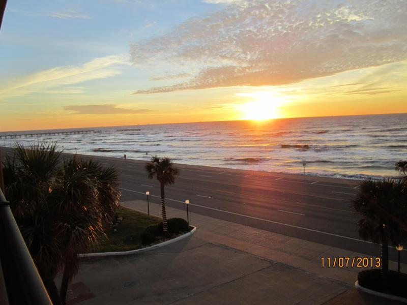 View from Balcony - Ocean Front Condo Breath-Taking Views heated pool - Galveston - rentals