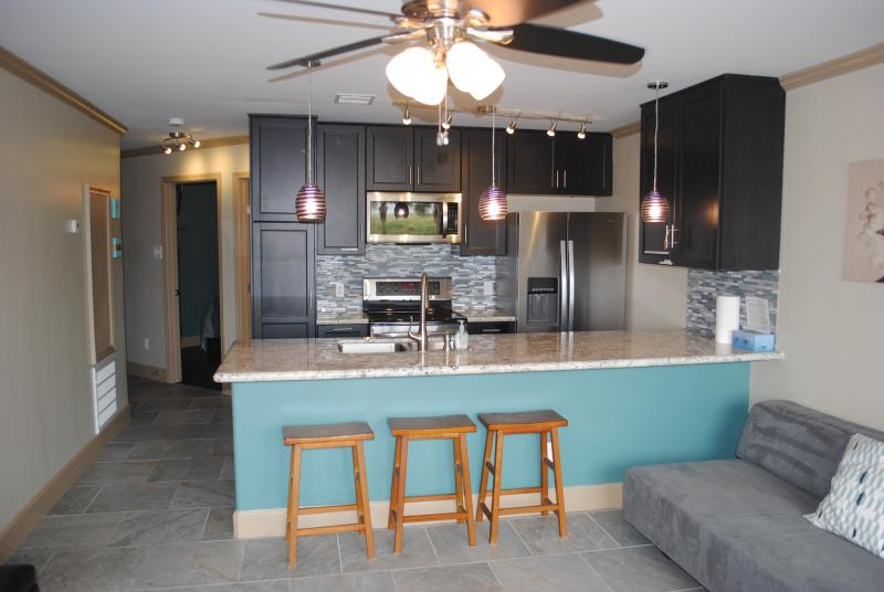 Kitchen - Romantic Gulf View Luxury Resort Condo 3 Pools 116 - Galveston - rentals