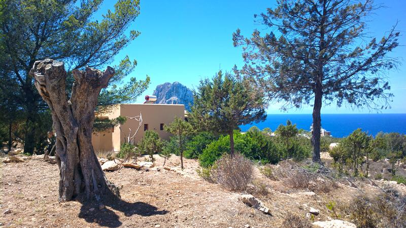 the Villa with explosive direct view on Es Vedra and the ocean, and the sunset. beach on 5 min - Exclusive Ibiza Villa with oceanview and sunset - Cala Carbo - rentals