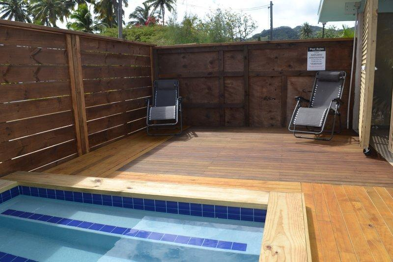 Brand new pool and sundeck adjacent to house deck - Pacific Time Holidays, private pool and garden - Arorangi - rentals