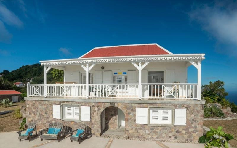 Spyglass front elevation - Spyglass - Saba villa with breath-taking view - Saba - rentals
