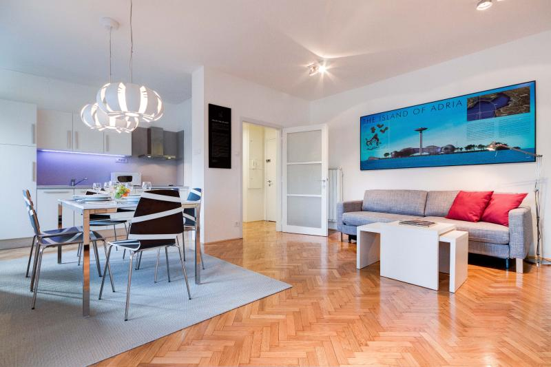 This apartments has an inviting interior that is bright and spacious from every perspective - 2-Bedroom Slovenska - Fine Ljubljana Apartments - Ljubljana - rentals