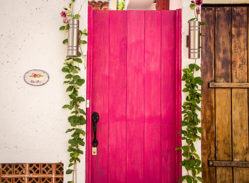 Casa Rosa front door. - Casa Rosa Puerto Morelos 3BDRM close to beach - Puerto Morelos - rentals