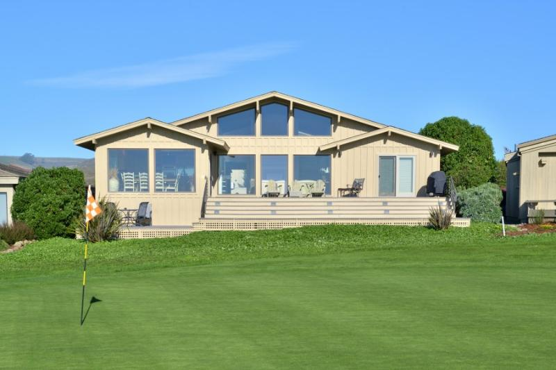 Rear elevation from the 10th green - Birdie House - Bodega Bay - rentals