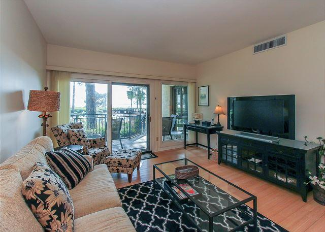 Living Area - 1865 Beachside Tennis-Easy Access to Beach & Pool. Calibogue Sound View - Hilton Head - rentals