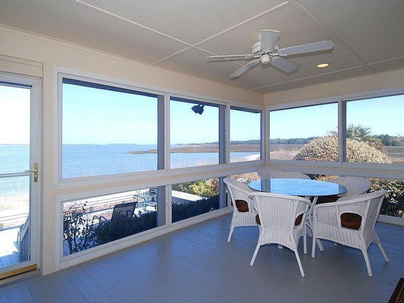 Enclosed Porch with Ocean View - Lands End 52 - Hilton Head - rentals