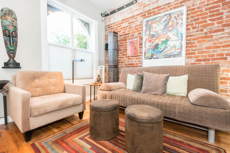 Living Room - Walk to Best of Downtown & Lohi!  Cozy & Contemporary Townhome - Denver - rentals
