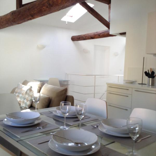 Dining/kitchen - Beautiful Apartment in old town of Villefranche - Villefranche-sur-Mer - rentals