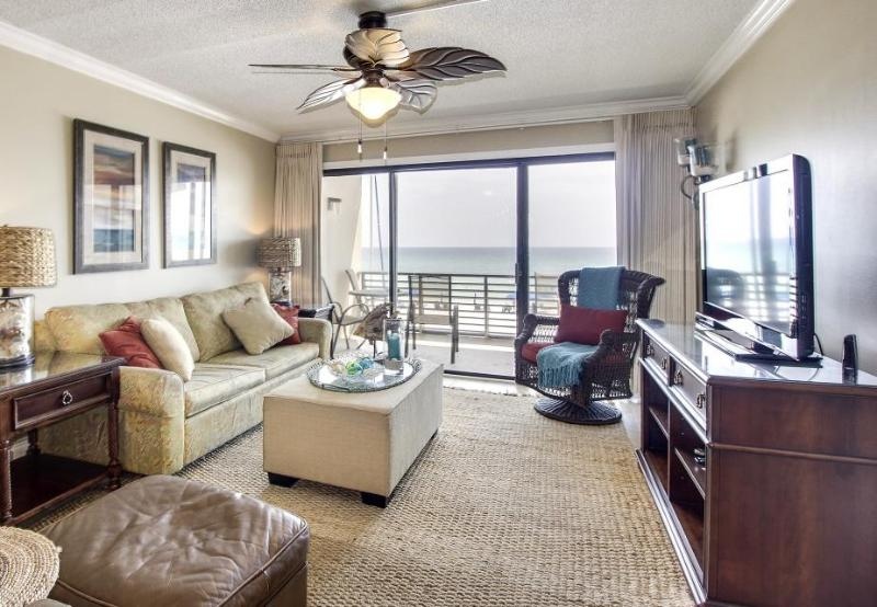 Stylish Gulf-front condo with a shared pool and private beach access! - Image 1 - Panama City Beach - rentals