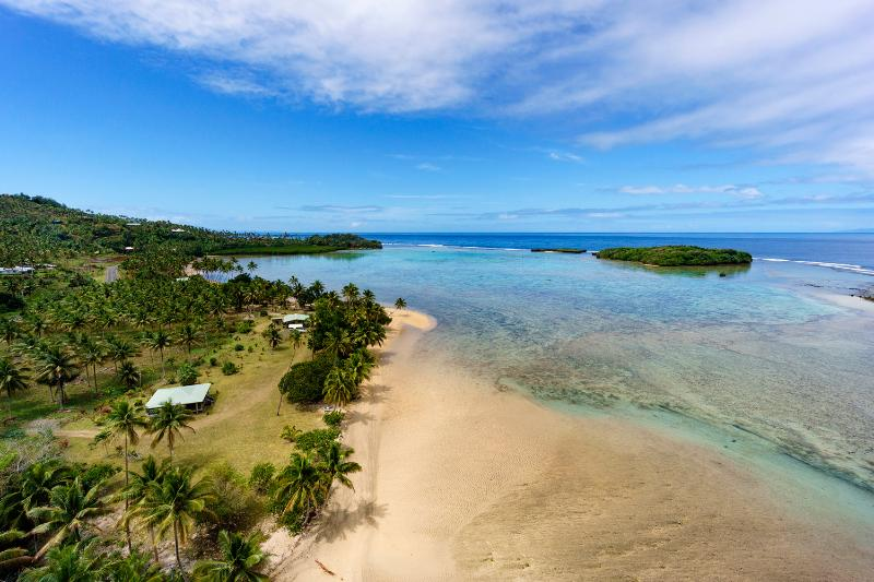Aerial view of the Pearl Shack Fiji - The ultimate beach bungalow! - Savusavu - rentals